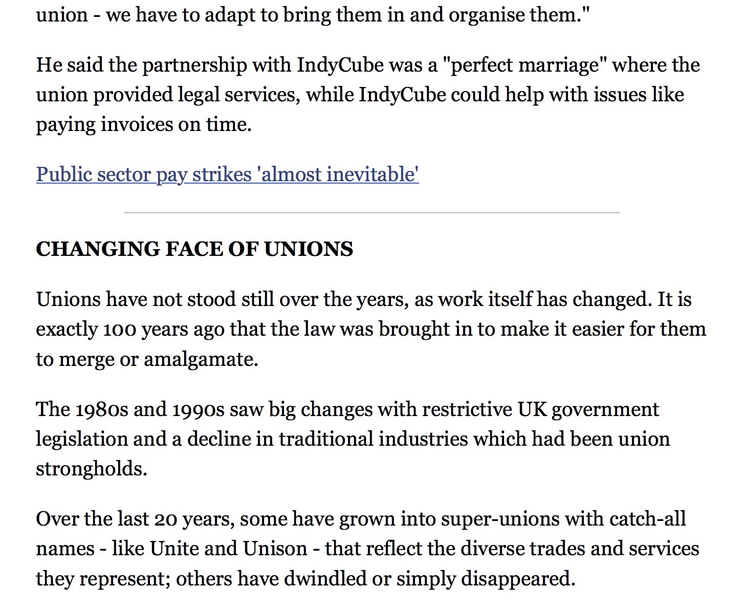 Community union looks to self employed membership BBC News 2.2